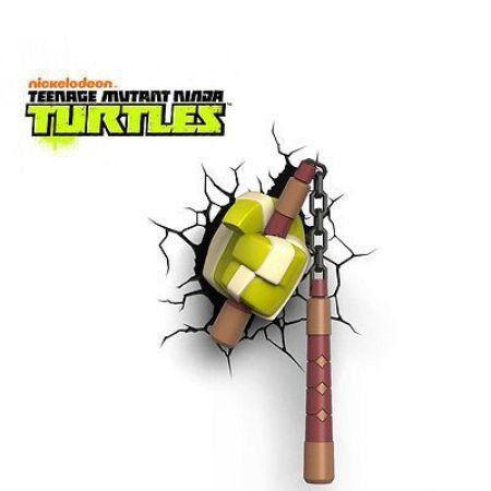 Luminária Arma Michelangelo: Tartarugas Ninja (Teenage Mutant Ninja Turtles) - 3D ligtht FX