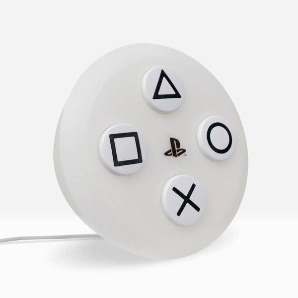 Luminária Botões: Playstation 5 (Branco)