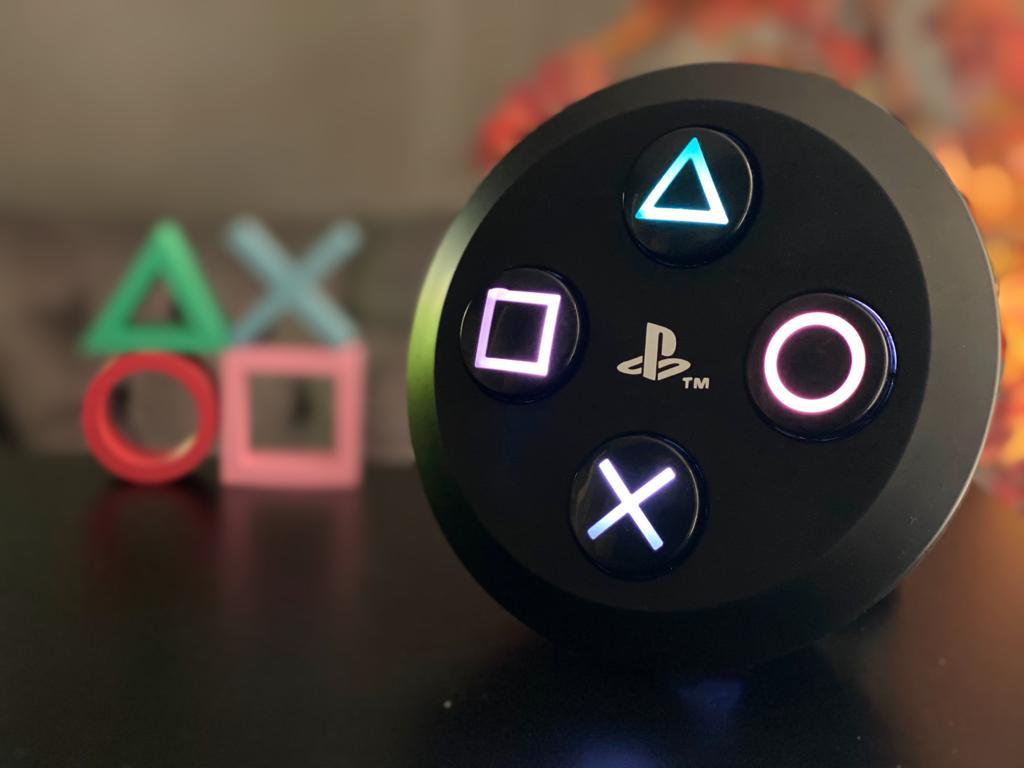 Luminária Botões: Playstation (Preto)