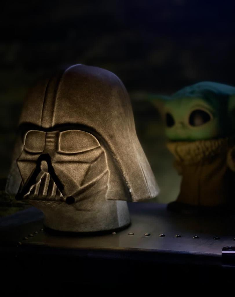 Luminária/Abajur Capacete Darth Vader (De Mesa) - EV