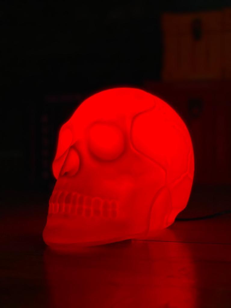 Luminária Caveira Vermelha