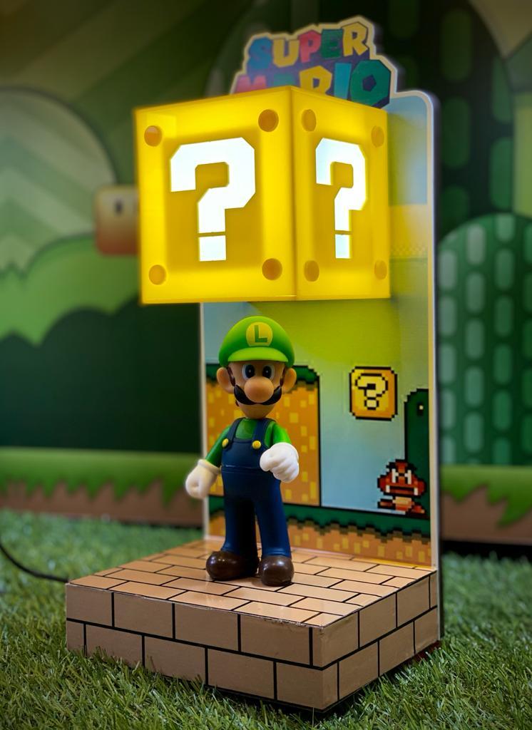 Luminária Cenário Mario Bros: Luigi - EV
