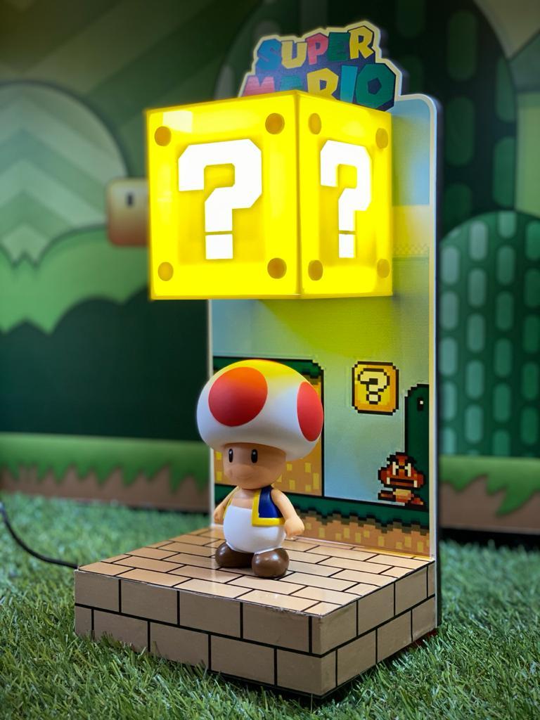 Luminária Cenário Mario Bros: Toad - EV