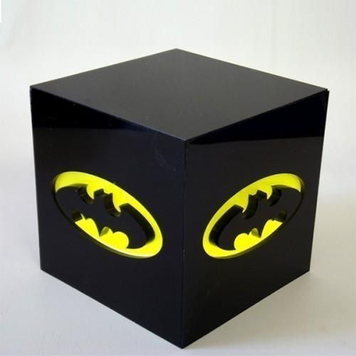 Luminária Cubo Batman - FP Design