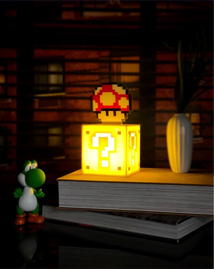 Luminária de Mesa Cubo Interrogação / Super Mario Bros  - Lançamento Exclusivo - EV