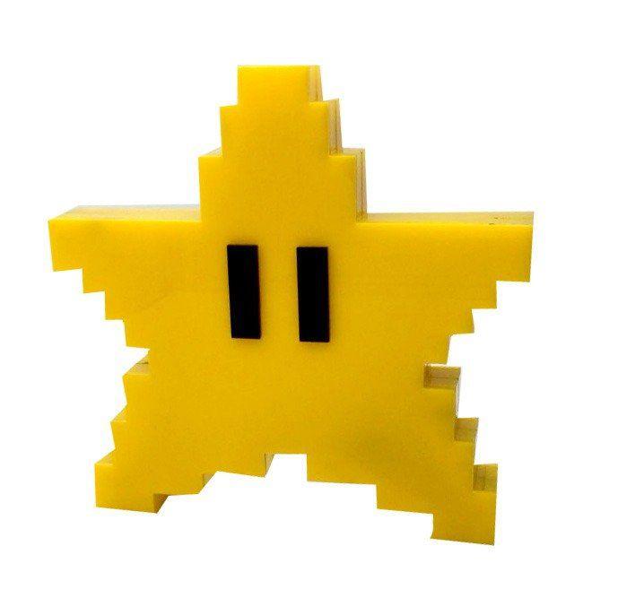 Luminária de Mesa Estrela: Super Mario Bros