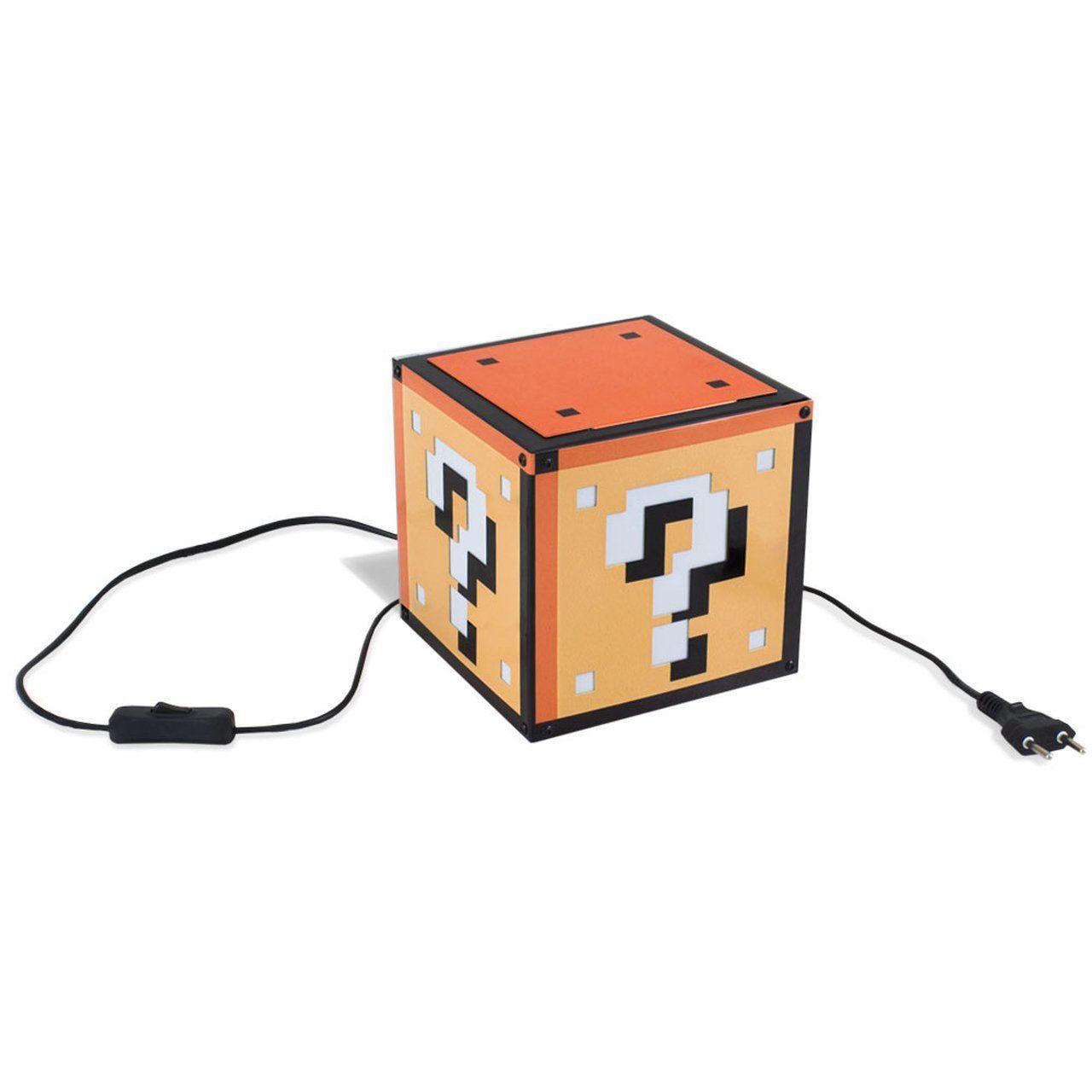 Luminária de Mesa Interrogação: Super Mario Bros - Geguton