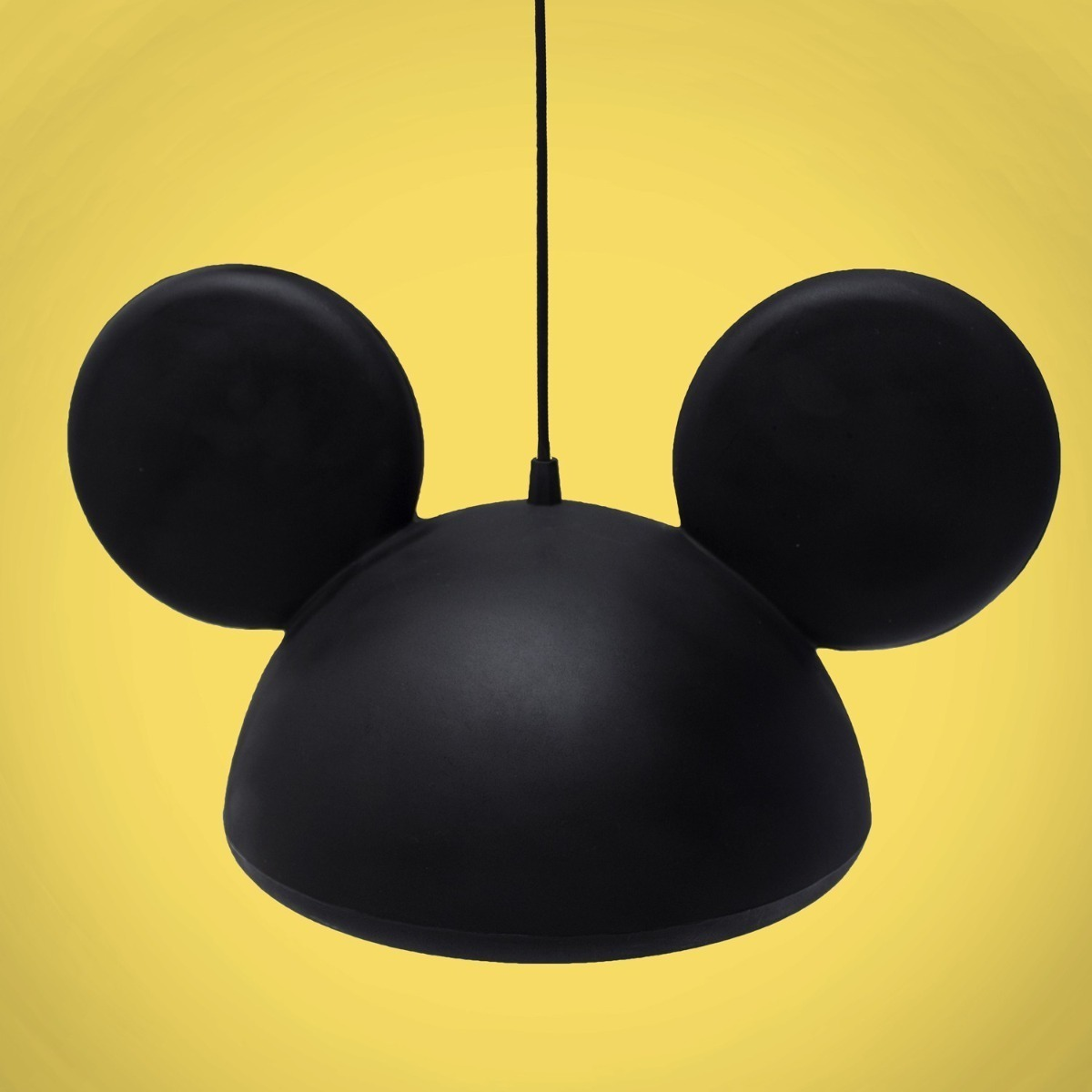 Luminária de Teto Pendente Orelhas Mickey Mouse - Disney Preto  - EV
