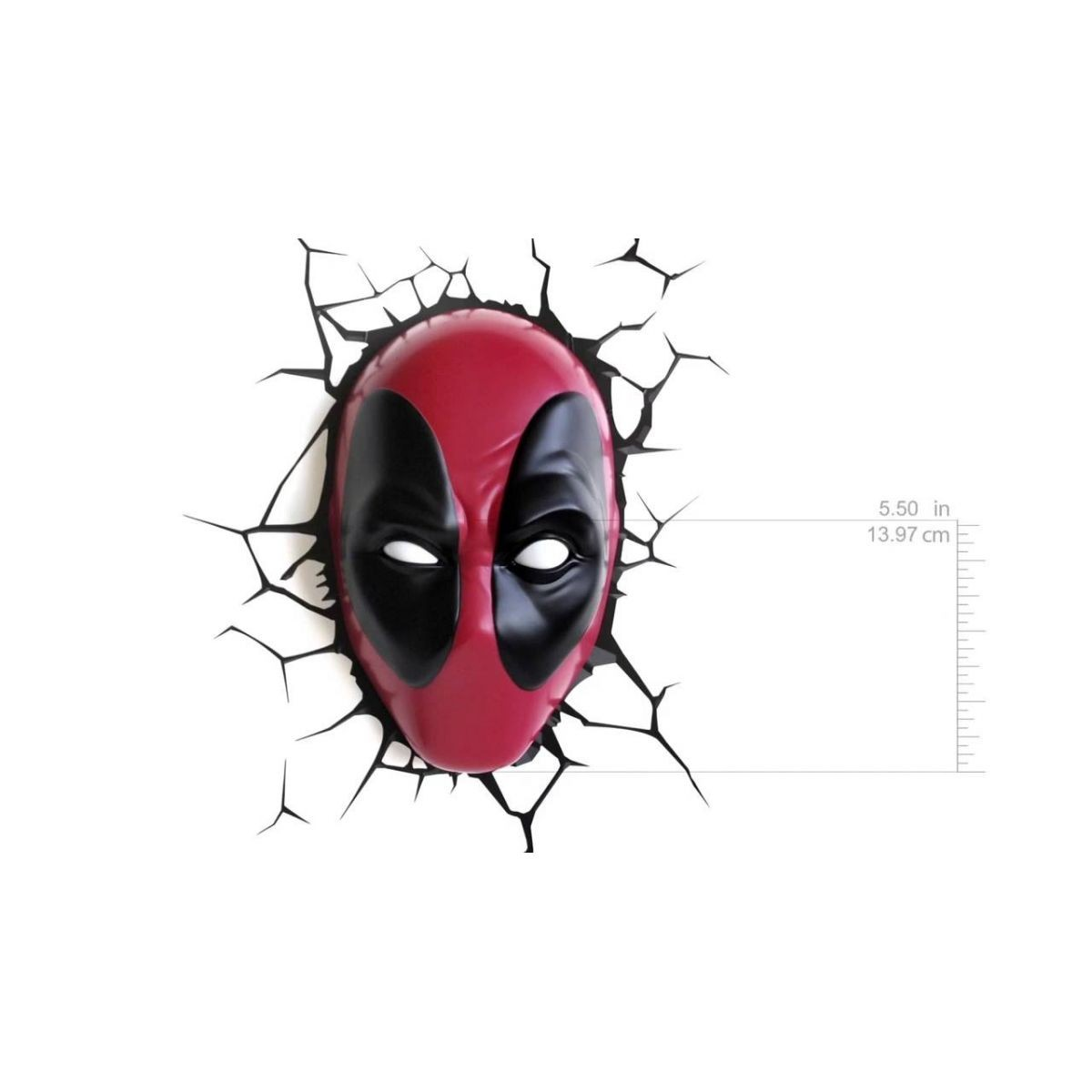 Luminária DeadPool LED 3D