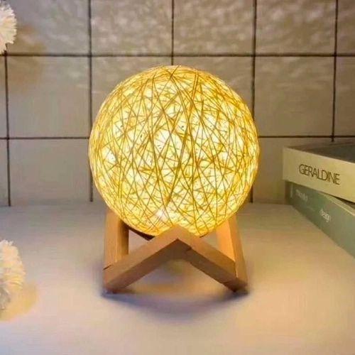 Luminária Decorativa Bola de Barbante 3D Branco (12x12) - InterPonte