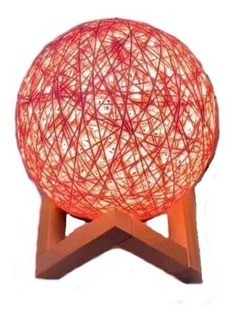 Luminária Decorativa Bola de Barbante 3D Laranja (12x12) - InterPonte