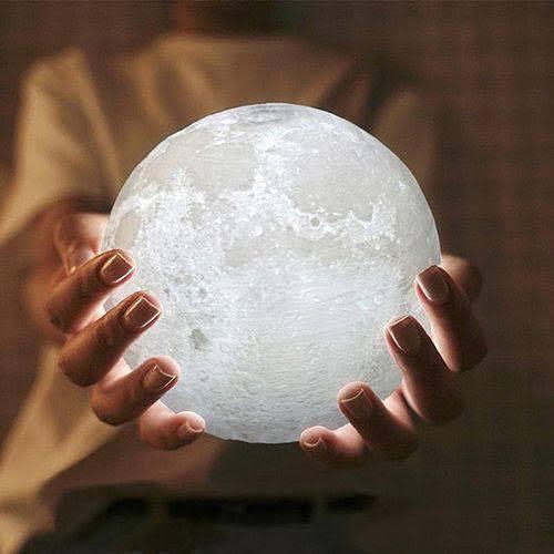 Luminária Decorativa Luz da Lua 3D (10x10)