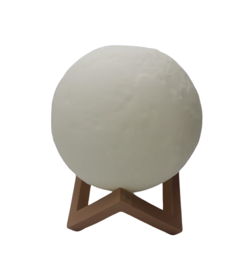 Luminária Decorativa Luz da Lua 3D Luz Branca (12x12) - InterPonte