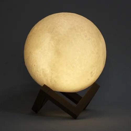 Luminária Decorativa Luz da Lua 3D (3D Moon Light) (8 Cores) 10x10