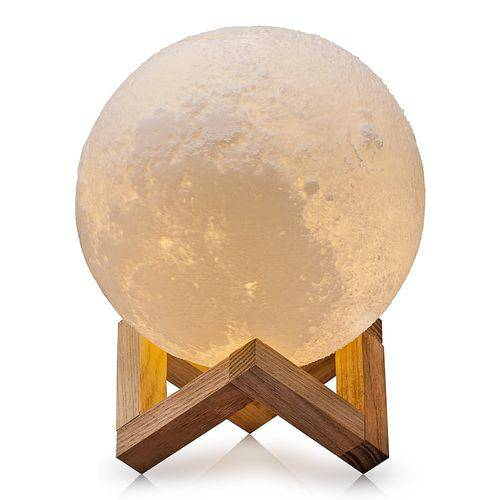 Luminária Decorativa Luz da Lua 3D (3D Moon Light) (9 Cores) 12x12