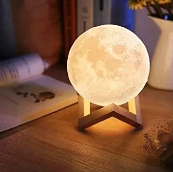 Luminária Decorativa Luz da Lua 3D Luz Quente (12x12) - InterPonte - EV