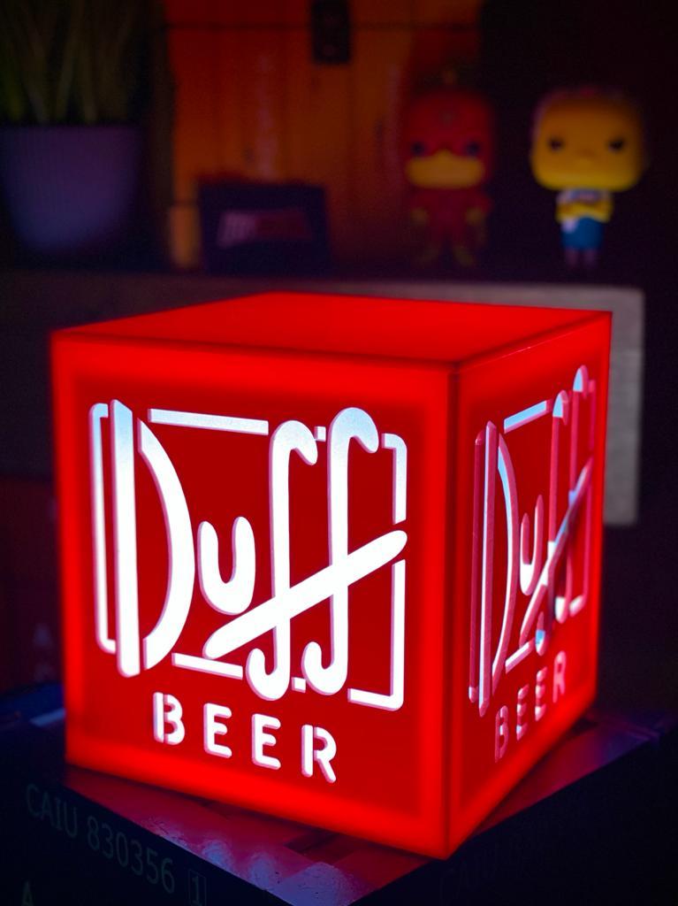 Luminária Duff Beer: Simpsons