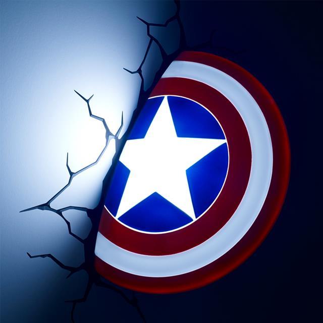 Luminária Escudo Capitão America - 3D Light FX