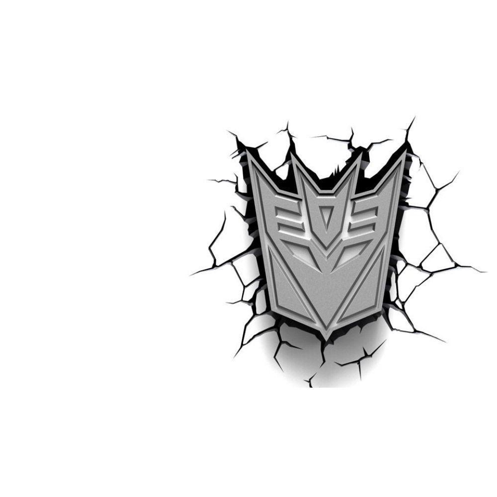 Luminária Escudo Decepticon - 3D Light FX