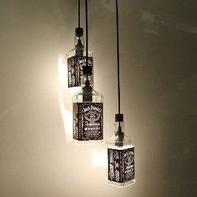Luminária Garrafa de Whiskey: Jack Daniel´s Rotulo Preto - AZ Design