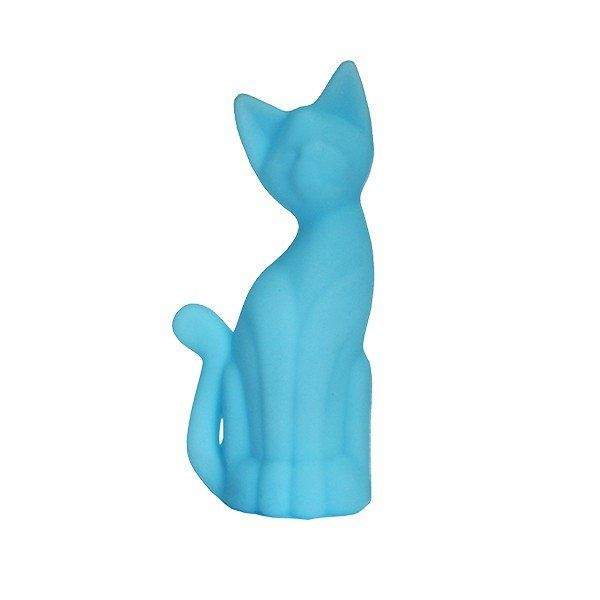 Luminária Gato Magrelo (Azul)