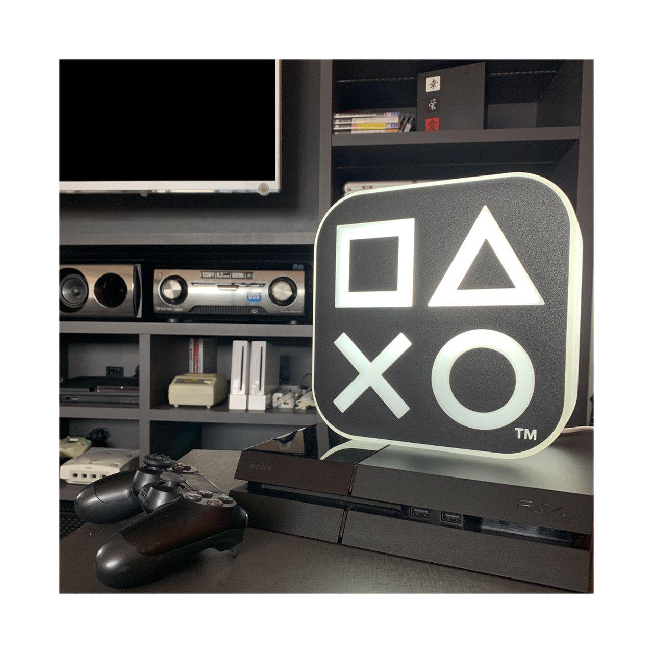 Luminária Ícones: Playstation (Preto)