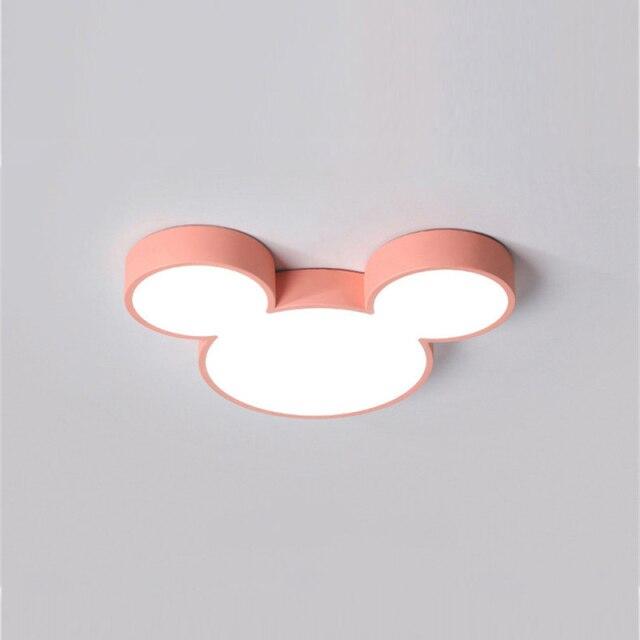 Luminária Lustre Mickey e Minnie: Disney Rosa - EV