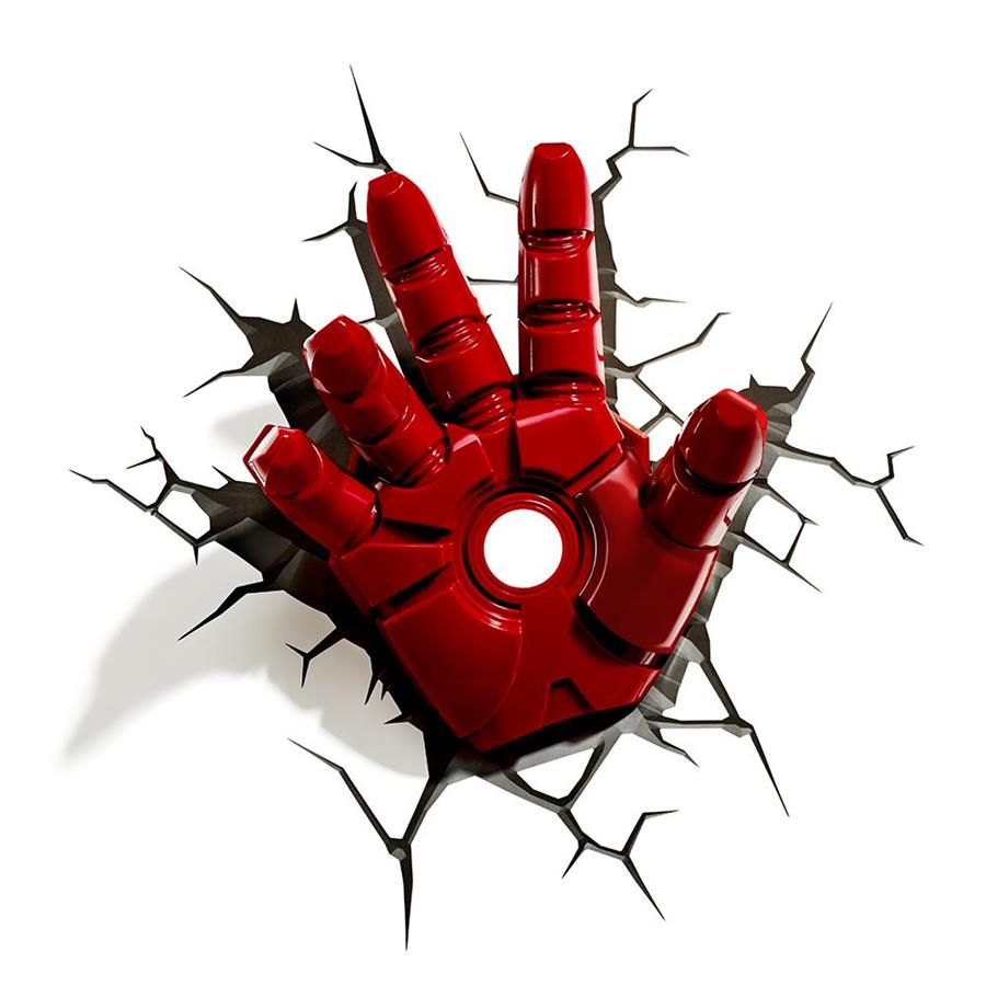 Luminária Mão Homem de Ferro (Iron Man Classic) - 3D Light FX
