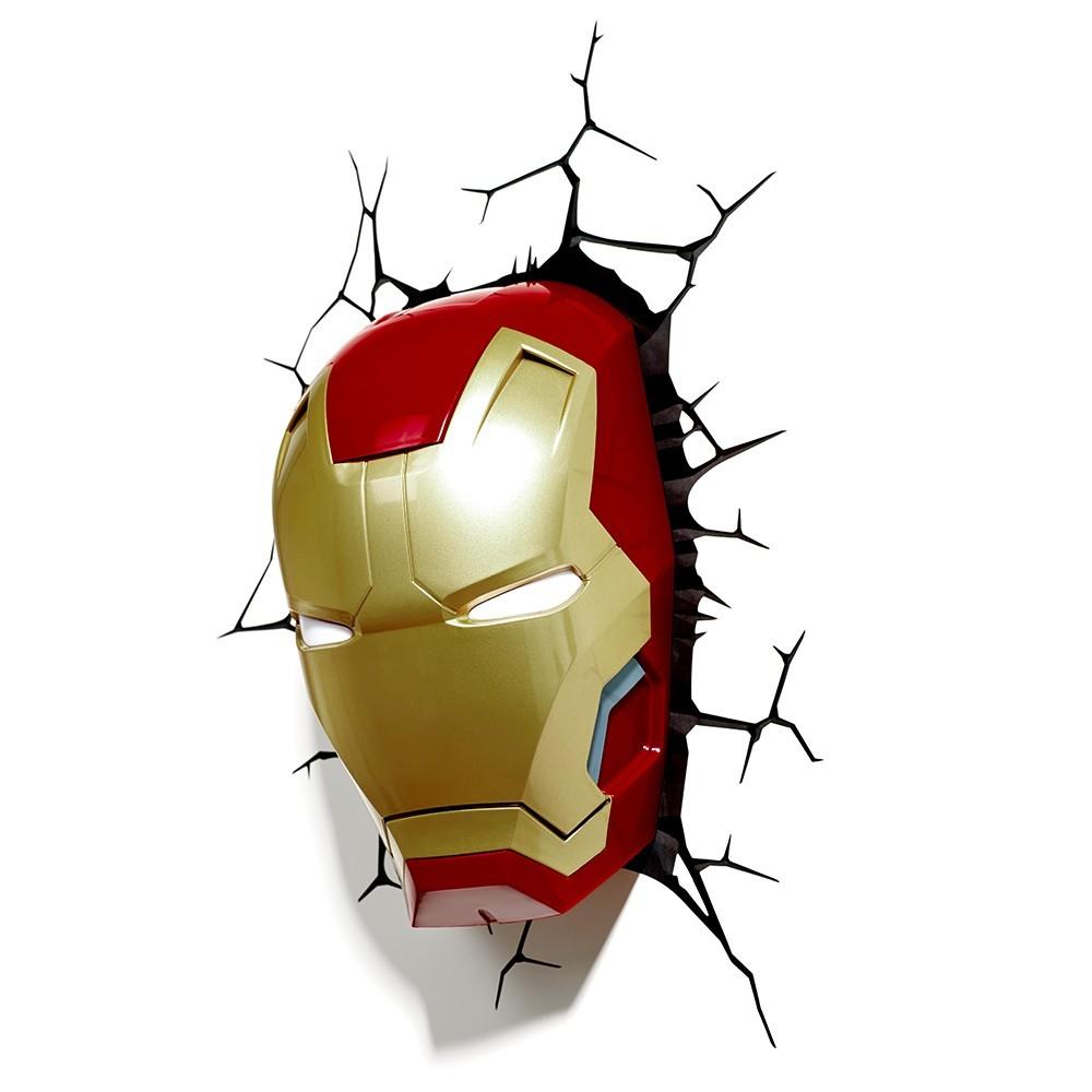 Luminária Máscara Homem de Ferro (Iron Man) - 3D Light FX