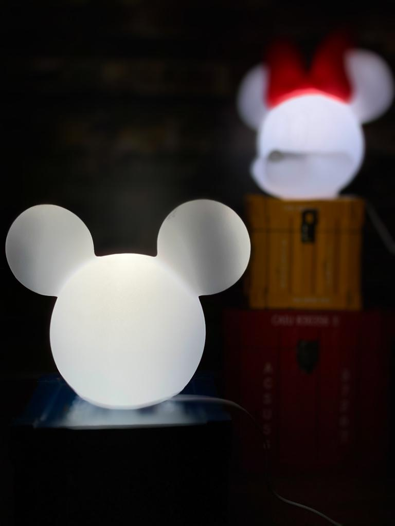 Luminária Mickey (Clean): Disney