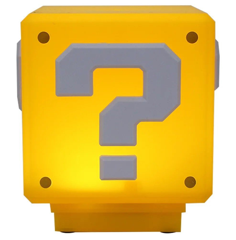 Luminária Mini Bloco Interrogação: Super Mario Bros