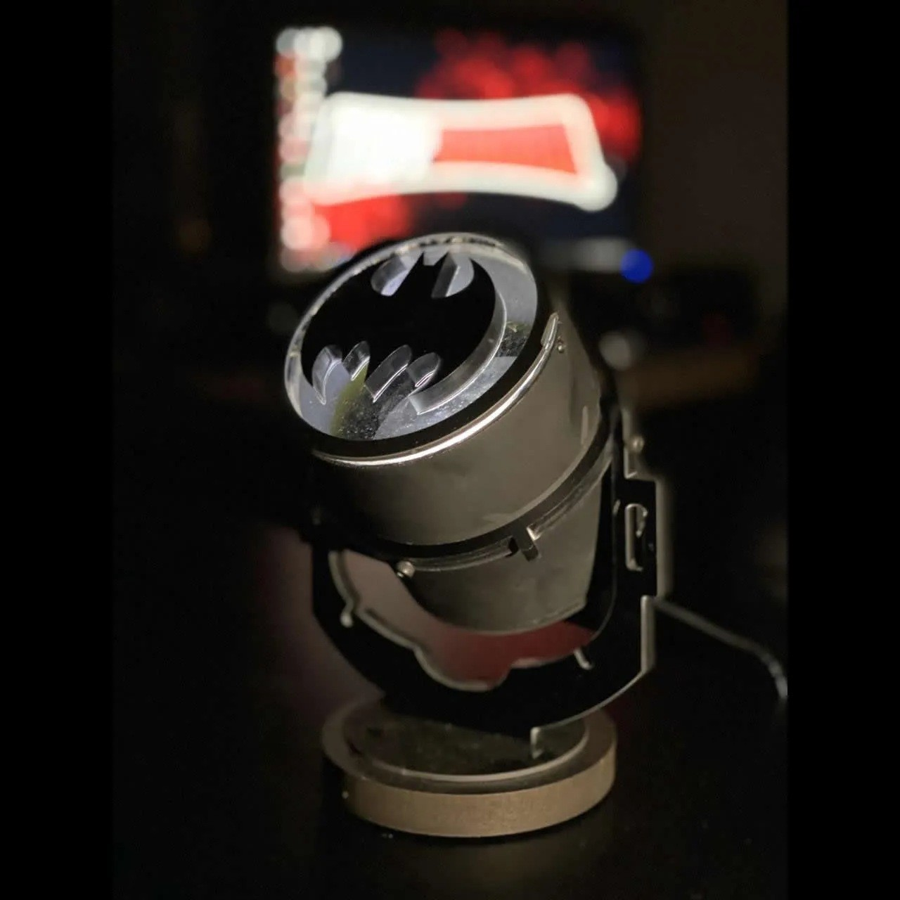 Luminária Bat Morcego - Bat Sinal - Batsinal - EV