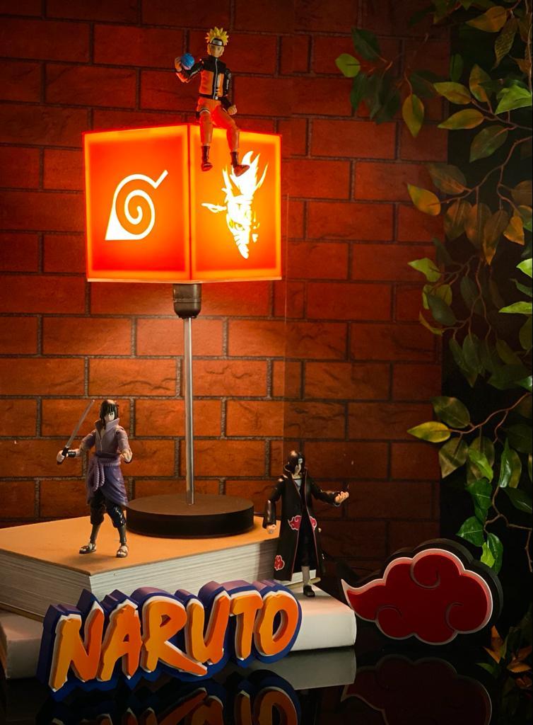 Luminária Naruto Uzumaki: Naruto Shippuden Vermelha