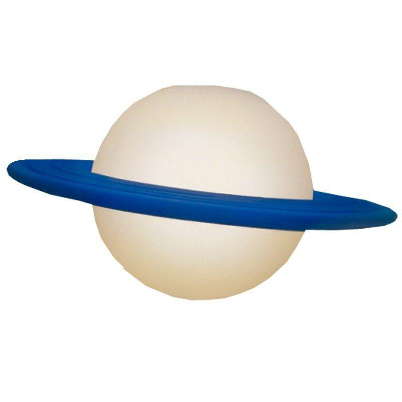 Luminária Pendente Saturno (Branco e Azul)