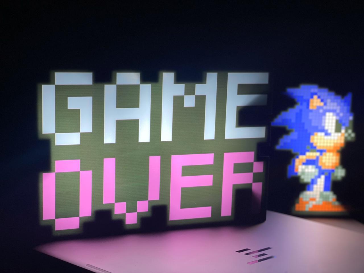Luminária Pixel Arte Sonic