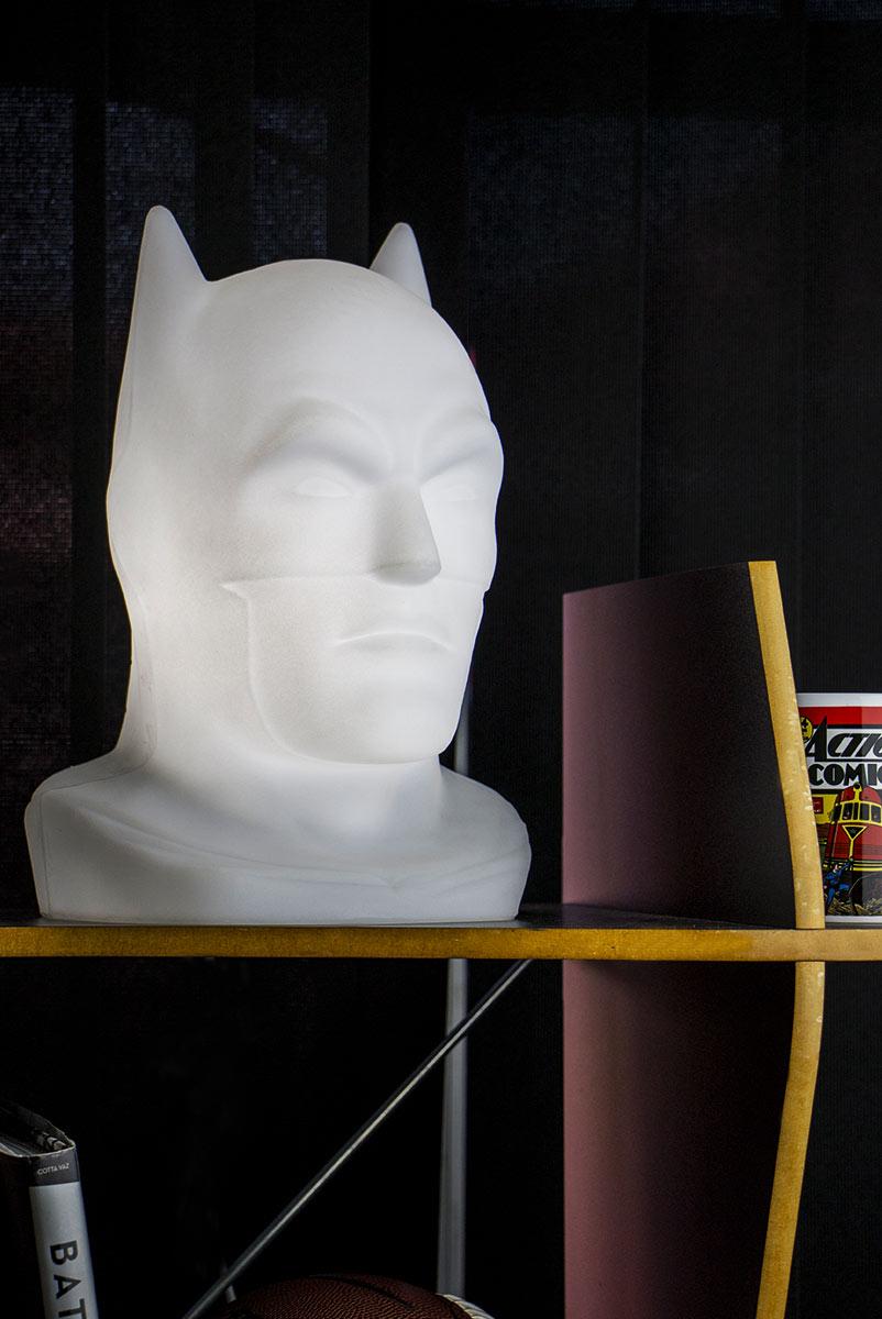 Luminária Plástica Batman (Head Branca): DC Comics