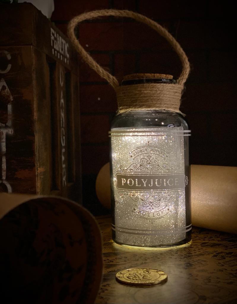 Luminária Pote Poção Mágica Polissuco Polyjuice: Harry Potter