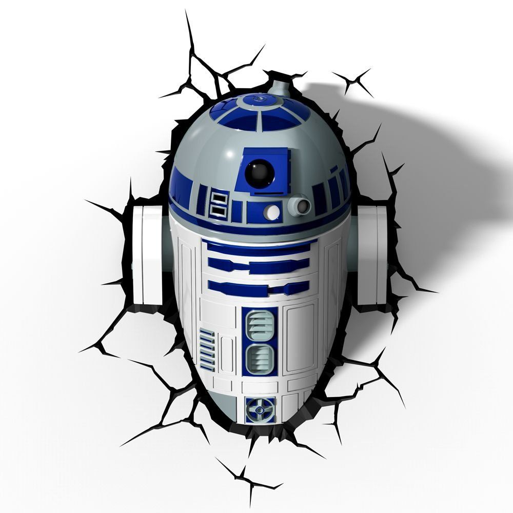 Luminária 3D R2-D2: Star Wars (Light FX)