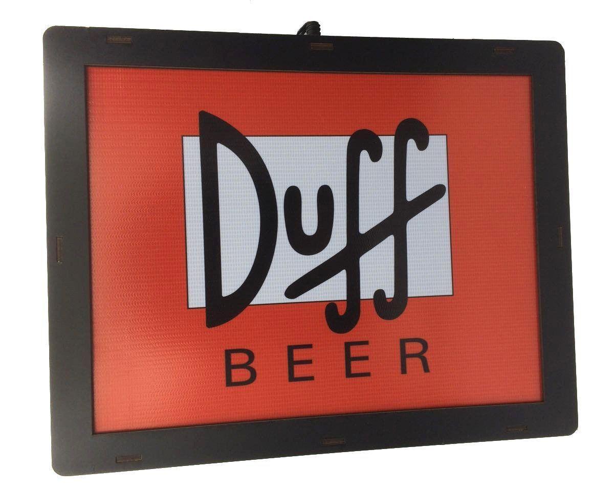 Luminária Retangular: Duff Beer