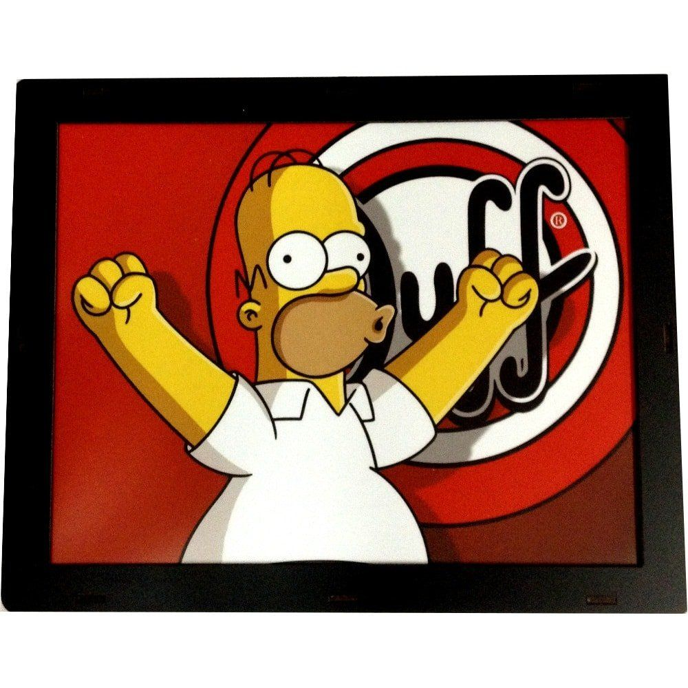 Luminária Retangular: Homer Simpson