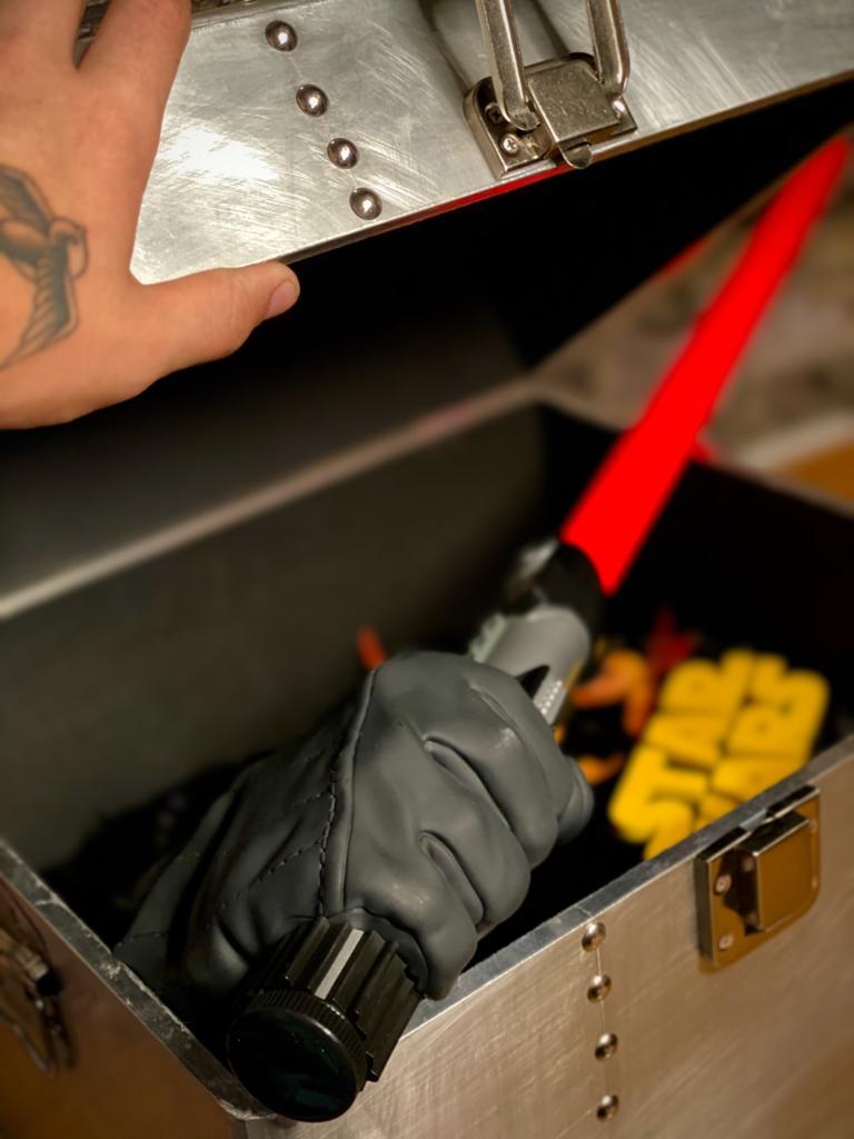 Luminária Sabre de Luz Darth Vader Star Wars - 3D Light FX