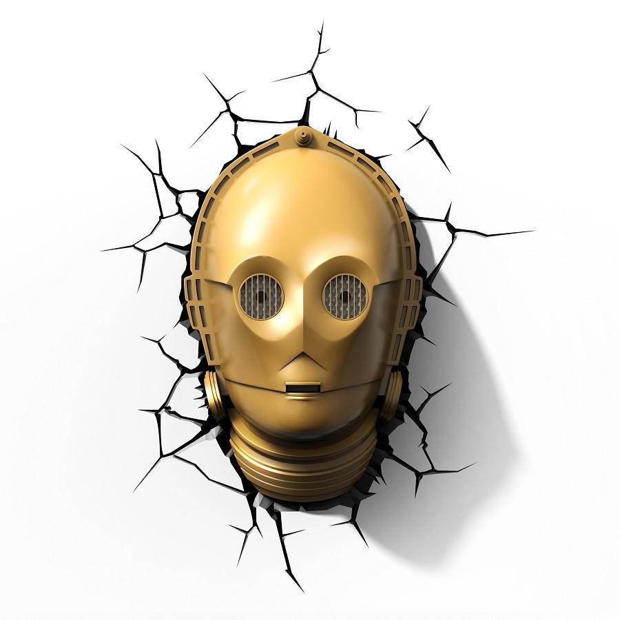 Luminária C-3PO: Star Wars - 3D ligtht FX