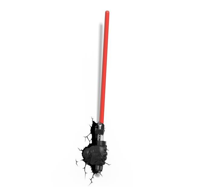 Luminária Star Wars Mão com Sabre Darth Vader - 3D ligtht FX