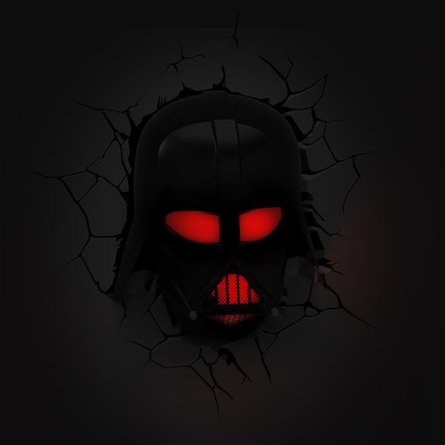 Luminária Star Wars Máscara Darth Vader - 3D ligtht FX