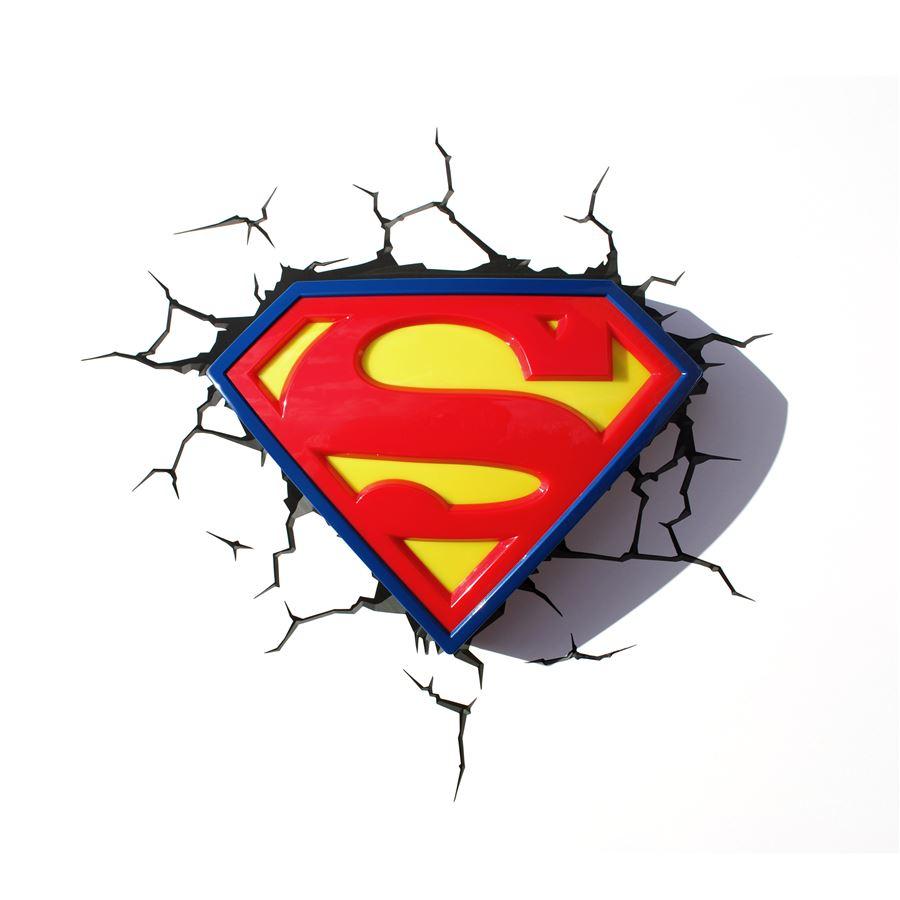 Luminária Superman Logo - 3D ligtht FX
