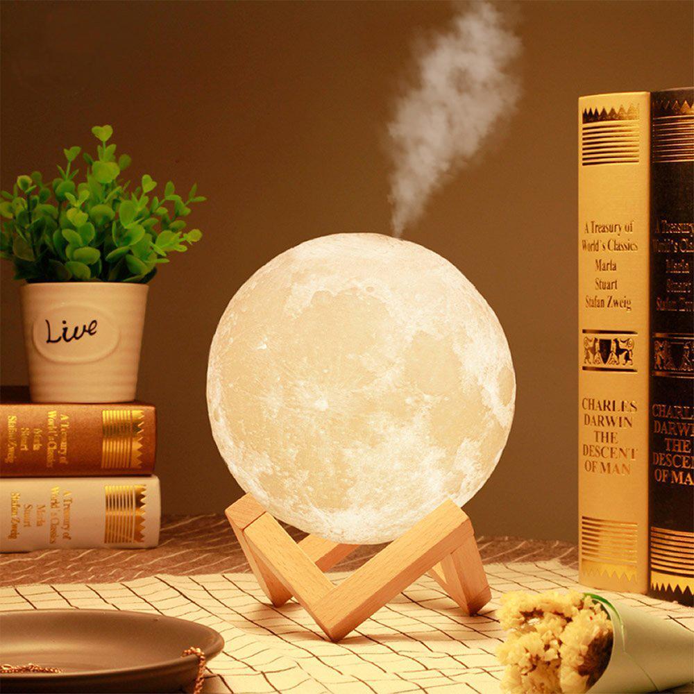 Luminária Umidificador Decorativa Luz da Lua 3D Luz Branca (12x12)