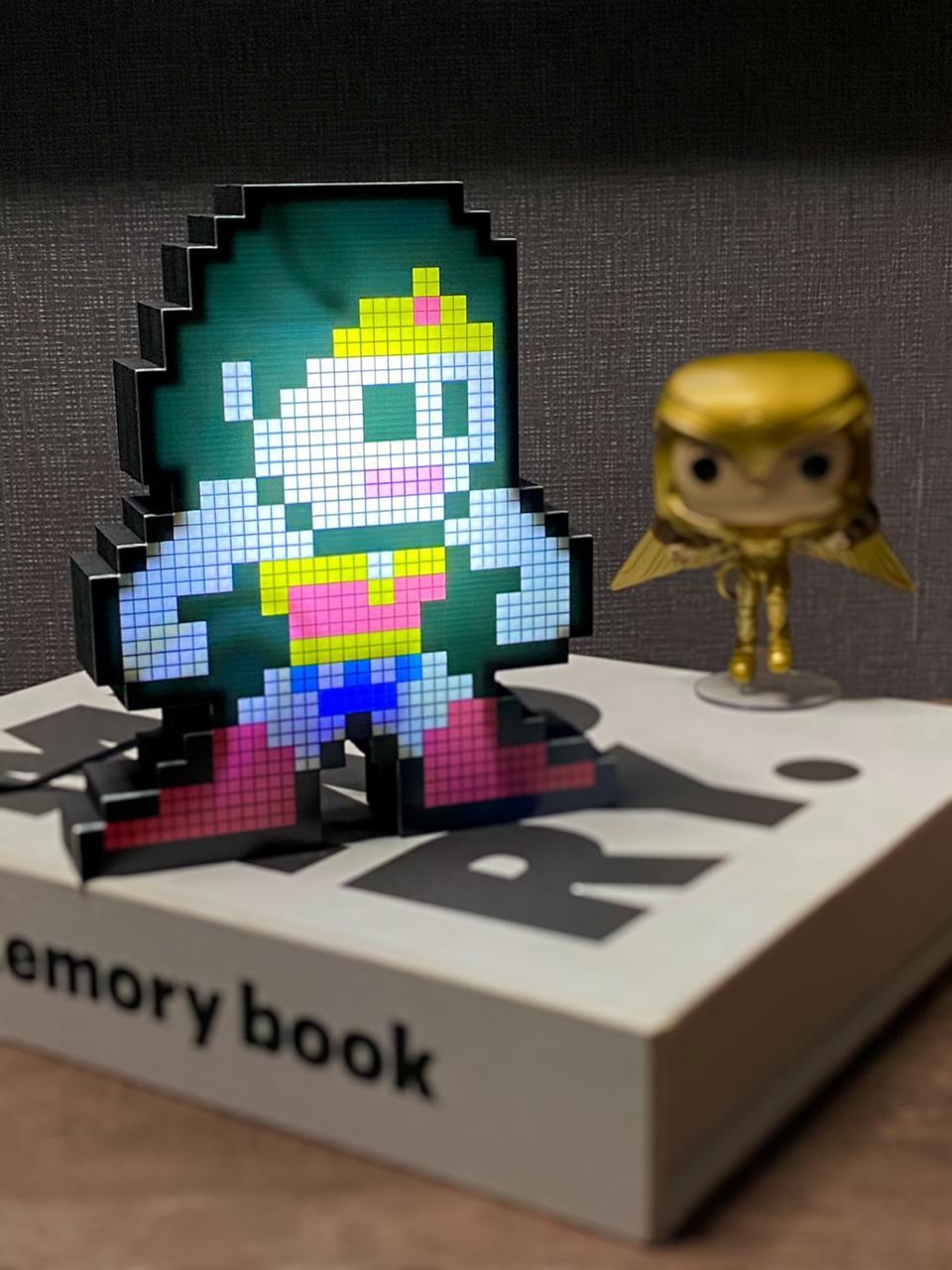 Luminoso Pixel Pals: Mulher Maravilha ( Wonder Woman )  Dc Comics