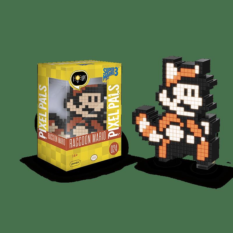 Luminoso Pixel Pals Raccon Mario: Super Mario Bros. 3 #024 - PDP