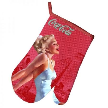 Luva de Forno/Cozinha Coca-Cola Algodão Pin Up Blonde Lady