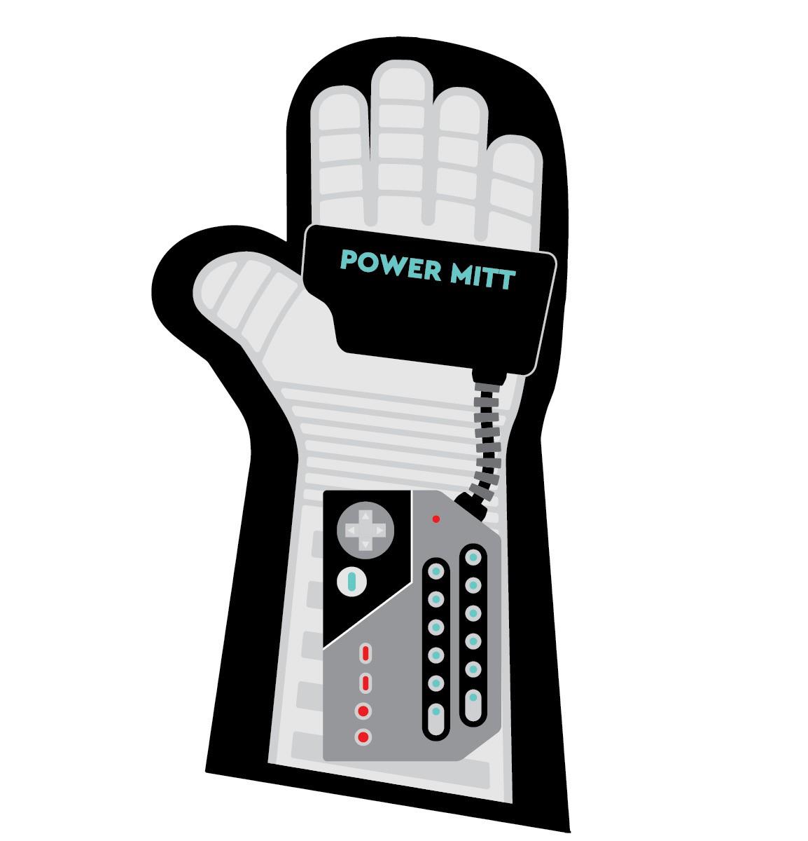 Luva de Forno/Cozinha Personagens: '' Power Mitt '' ( Power Glover )